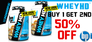Whey HD BUY 1 GET 2ND  OFF